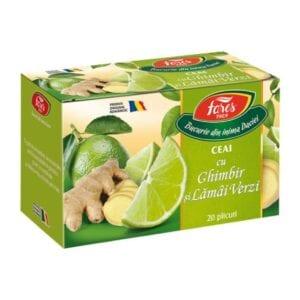 ceai cu ghimbir si lamai verzi fares
