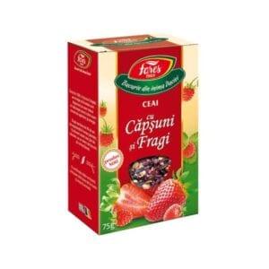 ceai cu capsuni si fragi fares