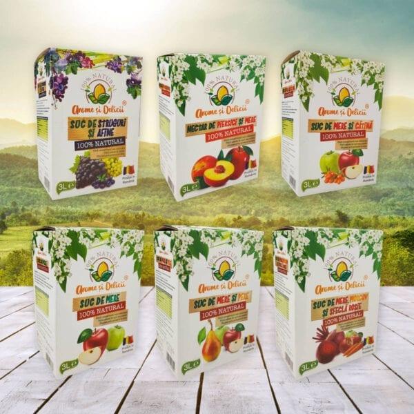 Colectie de 6 sucuri naturale
